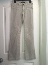 SERFONTAINE JEANS A25 Beige Corduroy Boot Cut Jeans Size 4 (26x31)