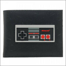Nintendo Super Mario Bros NES Controller Rubber Inlay Bi-Fold PU Wallet OFFICIAL