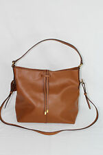 Lauren Ralph Lauren CRAWLEY Hobo Tote Shoulder Bag Leather Unlined Polo Tan $198