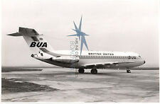 BRITISH UNITED BUA BAC1-11 LARGE OFFICIAL PHOTO ONE-ELEVEN