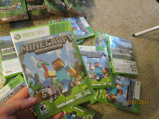 Minecraft  Xbox 360 ( 1 ) VIDEOGAME  NEW FACTORY  SEALED BRAND