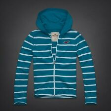 HOLLISTER Men's Lightweight TURQUOISE Hoodie Jacket Large NeW Soft Cotton Shirt