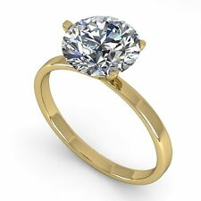 Genuine 2.0 CTW Certified Diamond Solitaire Engagement Ring 18K Mart... Lot 5397