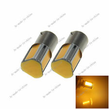 2X Yellow 1156 G18 Ba15s 4 COB LED Turn Signal Rear Light Car Bulb Lamp 12V D083