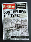 BRAND NEW Charles Charlie BRONSON Don't Believe the Type! SIGNED 2016 book