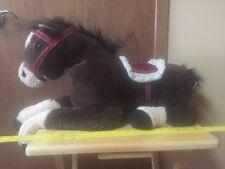 HUGFUN  Plush Brown Horse with saddle  Hug Fun