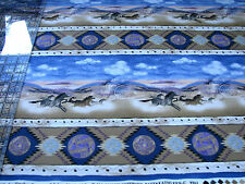 3 Yards Quilt Cotton Fabric- Timeless Treasures Southwest Native Horse Stripe