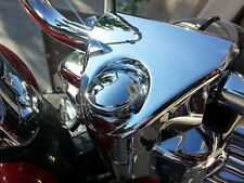 SMOOTH DOMED FORK LOCK COVER FOR HARLEY ROAD KING WATERPROOF!