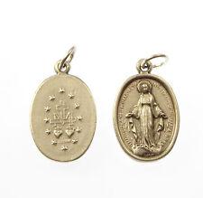 Catholique Miraculeuse Vierge Marie image métal médaille chapelet de perles