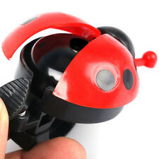 Lovely Red Beetle Ladybug Ring Bell For Cycling Bicycle Bike Ride Horn Alarm New
