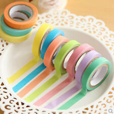10x Washi Sticky Paper Masking Adhesive Decorative Tape Scrapbooking Discount