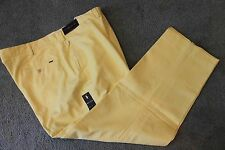 Polo Ralph Lauren Big and Tall Mens Yellow Flat-Front Chinos Pants NWT 44 B x 32