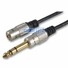 "SHORT Mini 3.5mm Socket to 6.35mm 1/4"" Plug Stereo Jack Headphone Adapter Cable"