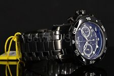 Invicta 48mm Pro Diver Scuba Jet Black Chronograph IP Stainless Gunmetal Watch