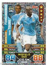 2015 / 2016 EPL Match Attax Duo (449) FERNANDINHO / TOURE Manchester City
