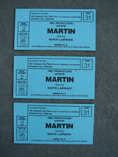 MARTIN STARRING MARTIN LAWRENCE 3 Original 1992 Tickets Universal Studios HBO