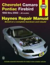 1993-2002 Chevy Camaro Pontiac Firebird Trans Am Repair Manual 2001 2000 5567