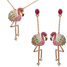 Fashion Jewelry - 18k Rose Gold Plated Flamingo Set (FS162)