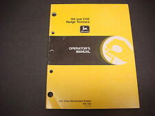 John Deere Operators Manual No.TM 1370,162 & 213E Hedge Trimmers,1986