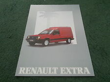 July 1988 / 1989 Model RENAULT EXTRA VAN - UK 16 PAGE COLOUR BROCHURE