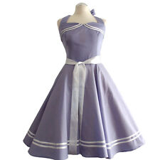Rockabilly 50er   Kleid Petticoat Pin Up Party Baumwolle S/M 113  Violet