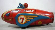 RARE MASUDAYA  ROCKET RACER 7 FRICTION TOY W/ TIN ASTRONAUT TIN LITHO WORKS.