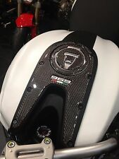 Ducati Monster authentic Carbon fiber TANK DASH COVER PANEL Trim Sticker pad Pad