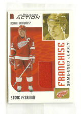 2003-04 IN THE GAME ACTION STEVE YZERMAN JERSEY #M-251 /100 STILL IN PACKAGE!