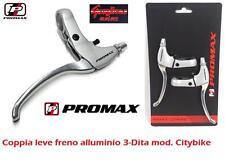 CP LEVE FRENO PROMAX ALLUMINIO SILVER 3-DITA PER BICI 26/27,5/29 MTB MOUNTAIN BI