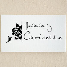 Personalized Custom Handmade Created By Handle Mounted Rubber Stamp RE684