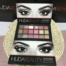HUDA BEAUTY TEXTURED 18 COLOURS EYE SHADOWS PALETTE ROSE GOLD EDITION