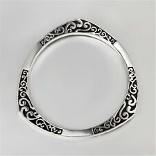 Hot Retro Bangle Sterling Jewelry Silver Bracelet Plated Creative Christmas Gift