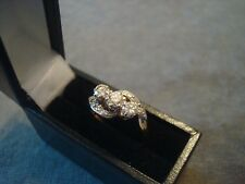 LADIES .750 18CT YELLOW GOLD DIAMOND .35ct RING 3.2g SIZE K BOXED REF 0815