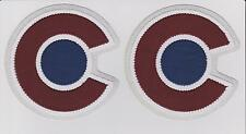 COLORADO AVALANCHE NEW SHOULDER PATCH LOT OF TWO