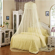 New White Elegant Lace Bed Canopy Mosquito Net