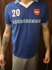Abercrombie & Fitch Men's Jersey Soccer Blue And White Muscle Shirt~Size Small