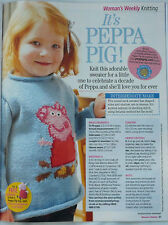 Knitting Pattern for Peppa Pig child's jumper sweater.