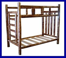 Cedar Rustic Log Bunk Bed - Twin/Twin