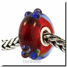 Authentic Trollbeads Glass 61328 Blue Flower Bud :0 RETIRED 27% OFF