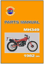 MONTESA HONDA Parts Manual MH349 1982 1983 1984 Replacement Spares Catalog List