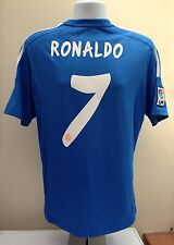 Real Madrid Football Shirt RONALDO 7 MEDIUM M Away 2013 2014 Blue CR7