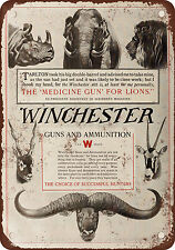 "1910 Winchester Guns and Ammunition 10"" x 7"" Reproduction Metal Sign"