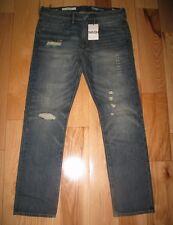 GAP 1969 SLIM FIT Low Rise Distressed Mens Blue Denim Pants Jeans Size 34/30