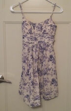 Women's Junior's Purple Flowers Cream Speechless Summer Dress sz 3 Cute!