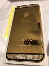 UNLOCKED 128GB IPHONE 6 4.7 24K 24CT REAL GOLD- DIAMOND ELITE  SPECIAL