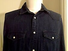 DSQUARED2 DENIM PEARL SNAP BUTTON WESTERN JEANS SHIRT Large US/Medium EU RARE