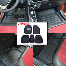 Universal Car Floor Mats FloorLiner Front&Rear Carpet All Weather 5Pcs Mat Black