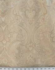 Drapery Upholstery Fabric Heavy Large-Scale Jacquard Floral - Champagne / Beige