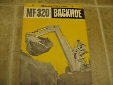 Massey Ferguson MF320 Backhoe Sales Brochure 1960's