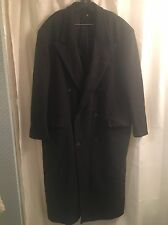 NEIMAN MARCUS Charcoal Gray WOOL Double Breasted CANADA Jacket TOP COAT 42L L
